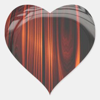 Refrigere etiquetas lustrosas de madeira enverniza adesivos em forma de corações