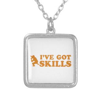 refrigere o design das habilidades do rap colar com pendente quadrado