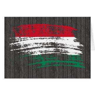 Refrigere o design húngaro da bandeira cartão