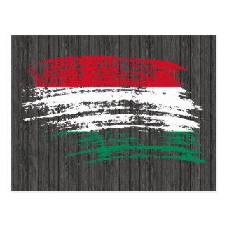 Refrigere o design húngaro da bandeira cartao postal