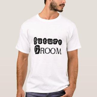 Refrigere o noivo futuro do texto preto camiseta