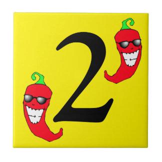 Refrigere o pimentão vermelho número quente dois 2