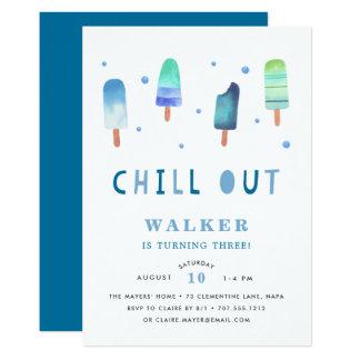 Refrigere para fora o convite de aniversário do