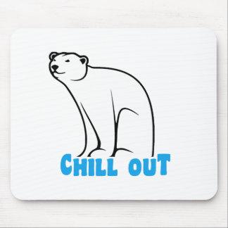 Refrigere para fora o urso polar mouse pad
