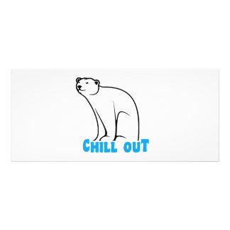 Refrigere para fora o urso polar modelos de panfletos informativos