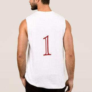 "Regata ""1"" numerado suporta sobre - o t-shirt"
