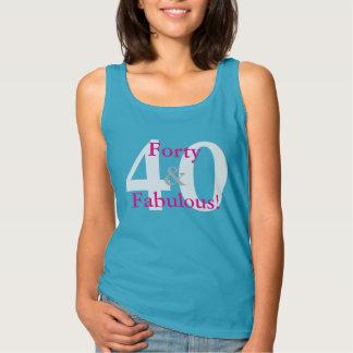 Regata 40 & fabuloso! Rosa azul & quente do aniversário