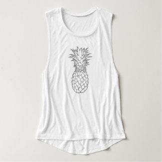 Regata A camisola de alças das mulheres do abacaxi da
