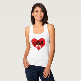 Regata A camisola de alças das mulheres finais do amor