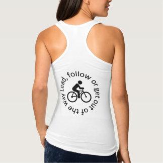 """Regata A """"ligação, segue"""" camisolas de alças do ciclismo"""
