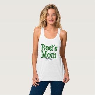 Regata A mamã Racerback do vermelho ostenta senhoras de