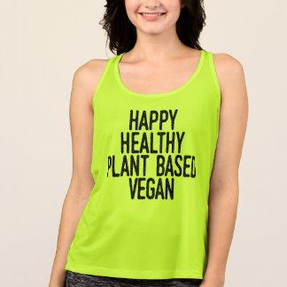Regata A planta saudável feliz baseou o Vegan (o preto)