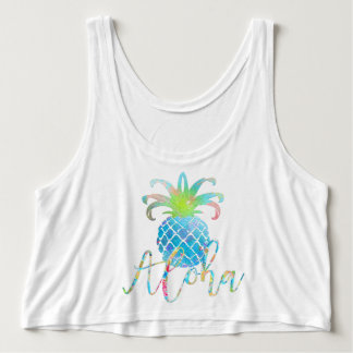 Regata Abacaxi de PixDezines Aloha, azul do Aqua