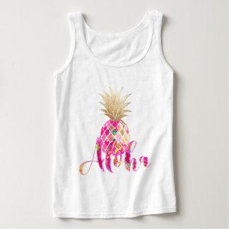 Regata Abacaxi de PixDezines Aloha/ouro do falso
