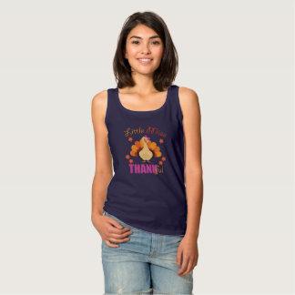 Regata Acção de graças pequena do t-shirt da senhorita