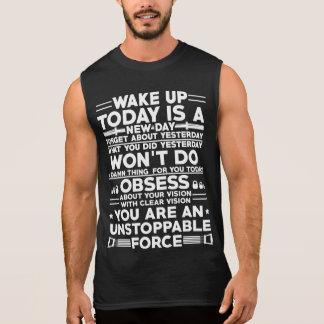 Regata Acorde o t-shirt da motivação do gym