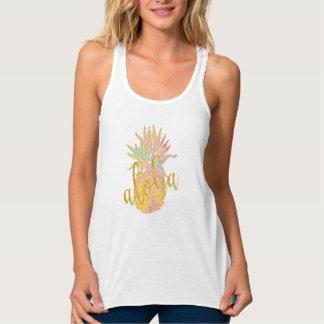Regata Aloha abacaxi extravagante do pastel do brilho do
