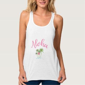 Regata Aloha rosa havaiano das férias do estilo das