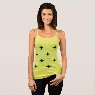 Regata Amarelo do t-shirt dos desenhistas com estrelas