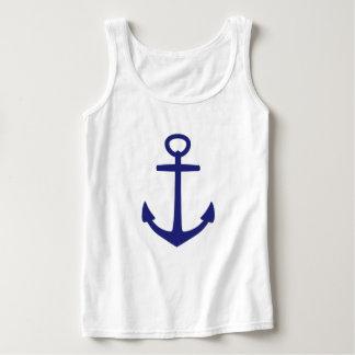 Regata Âncora azul náutica no branco