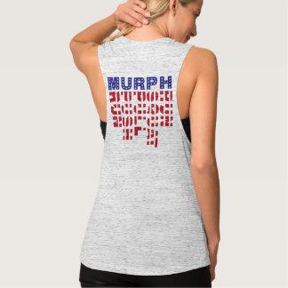 Regata Bandeira do músculo das senhoras de CrossFit Murph