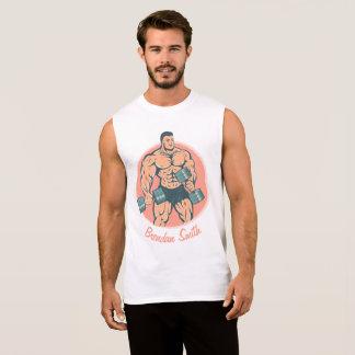 Regata Bodybuilder do wiith do t-shirt e seu nome