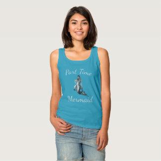 Regata Camisola de alças azul tropical da sereia de meio