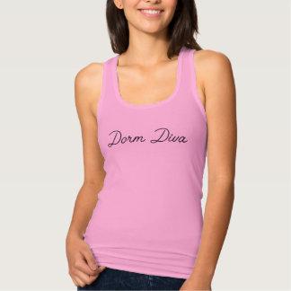 Regata Camisola de alças cor-de-rosa de Racerback da diva