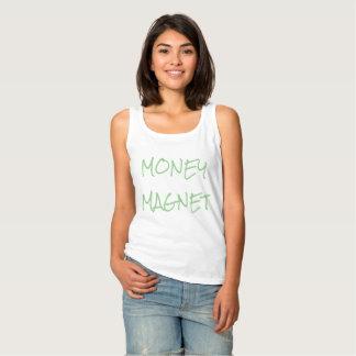 Regata Camisola de alças da atração do dinheiro