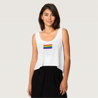 Regata Camisola de alças da bandeira do arco-íris do