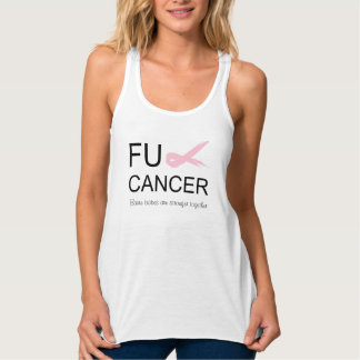 Regata Camisola de alças da barra do cancer de FU