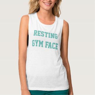 """Regata """"Camisola de alças da cara de descanso do Gym"""""""