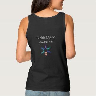 Regata Camisola de alças da consciência da fita da saúde