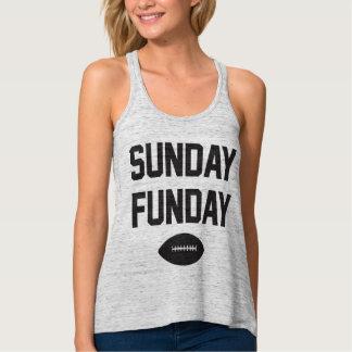 Regata Camisola de alças de domingo Funday do futebol