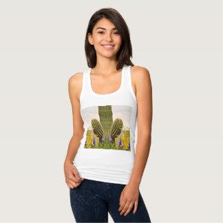 Regata Camisola de alças do Saguaro das mulheres
