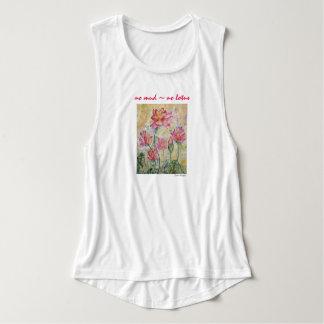 Regata Camisola de alças floral da arte da aguarela da