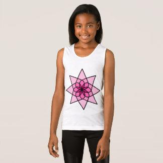 Regata Camisola de alças geométrica cor-de-rosa dos