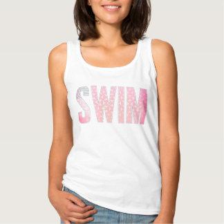 Regata Camisola de alças moderna cor-de-rosa da natação