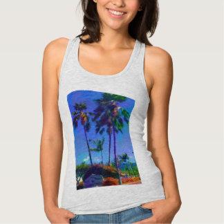 Regata Camisola de alças tropical do design das mulheres