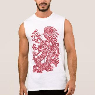 Regata Camisola de alças vermelha do dragão