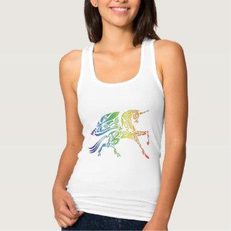 Regata Camisola de alças voada arco-íris das senhoras do
