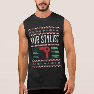 Regata Camisola feia do Natal do cabeleireiro