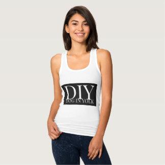 Regata Cão de DIY na camisa/roupa da gema