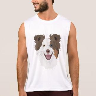 Regata Cara feliz border collie dos cães da ilustração