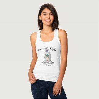 Regata Centro da luz e do tshirt das mulheres da