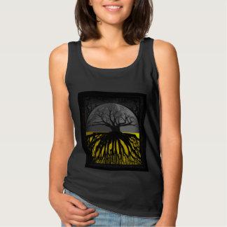 Regata Círculo da camisola de alças da floresta da árvore