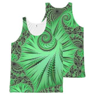 Regata Com Estampa Completa 108-74 folha verde & espiral