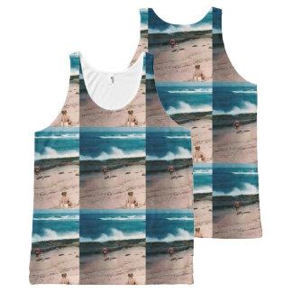 Regata Com Estampa Completa A camisola de alças das mulheres de Maui do