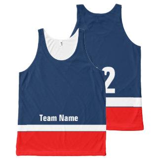 Regata Com Estampa Completa A equipa de hóquei personalizada colore a camisola