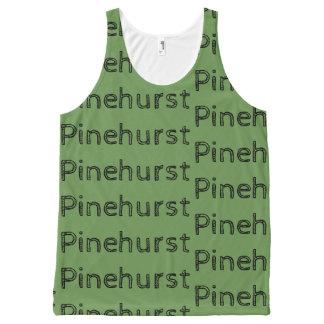 Regata Com Estampa Completa A repetição de Pinehurst pode texto rústico